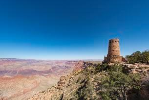 Desert View Watchtower, South Rim, Grand Canyon Nationalの写真素材 [FYI02709026]