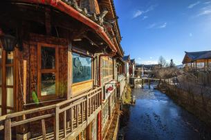 Shuhe Ancient Town, Lijiang, Yunnan,Chinaの写真素材 [FYI02709069]