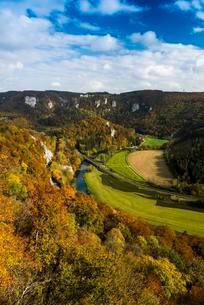 View over the Danube gap at Wildenstein Castle, Upperの写真素材 [FYI02709122]