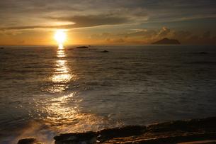 Twin Lion Beach; Toucheng; Yilan; Taiwanの写真素材 [FYI02709169]