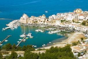 Castellammare del Golfo, Province of Trapani, Sicilyの写真素材 [FYI02709449]
