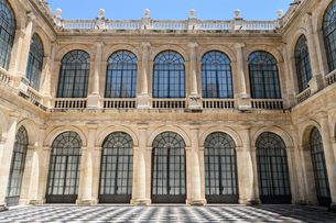 Courtyard of the General Archive of the Indies, Sevilla. A renaissance architectural site, a marketの写真素材 [FYI02709457]