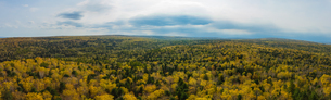 Panoramic View of Forest natural landscape. Lesser Khingan; Yichun; Heilongjiang; Chinaの写真素材 [FYI02709617]