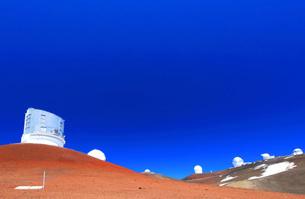 ハワイ島 マウナ・ケア山頂天文台群の写真素材 [FYI02710054]