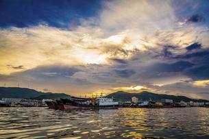 Dongping fishing port,Yangjiang, Guangdong, Chinaの写真素材 [FYI02710102]
