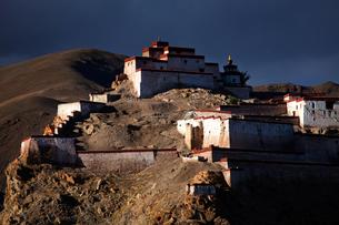 Tibet Shigatse Jiangzi Dzong Castleの写真素材 [FYI02710157]