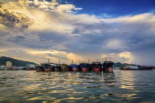 Dongping fishing port,Yangjiang, Guangdong, Chinaの写真素材 [FYI02710403]