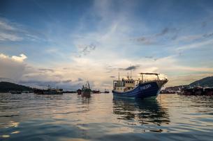 Dongping fishing port,Yangjiang, Guangdong, Chinaの写真素材 [FYI02710417]