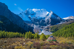 Mountain And Forest In Yading Nature Reserveの写真素材 [FYI02710480]