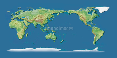 世界地図青背景のイラスト素材 [FYI02717502]