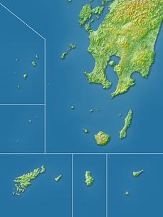 鹿児島県大隅諸島地図のイラスト素材 [FYI02717738]