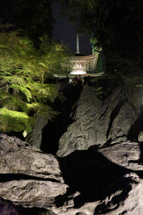 石山寺硅灰石ライトアップ(多宝塔を望む)の写真素材 [FYI02718017]