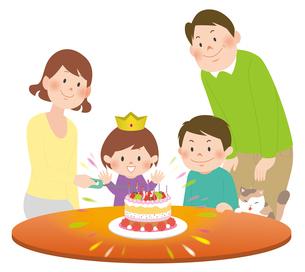 家族と誕生会2のイラスト素材 [FYI02720039]