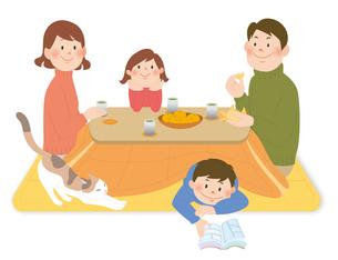 家族とこたつ2のイラスト素材 [FYI02720062]