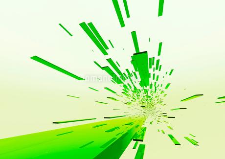 画面奥に流れる立体感のある緑色のバー(光)のイラスト素材 [FYI02720466]