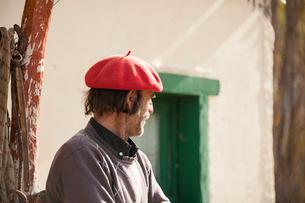 ベレー帽とパタゴニアの牧童ガウチョの写真素材 [FYI02722129]