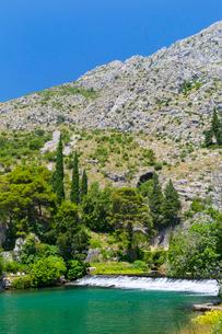 クロアチア、オンブラ川(Ombla)の写真素材 [FYI02723061]