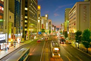 広島市相生通りの夜景の写真素材 [FYI02723517]
