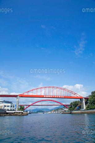 音戸の瀬戸にて音戸大橋と第二音戸大橋の写真素材 [FYI02723684]