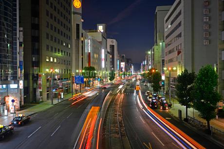 広島市相生通りの夜景の写真素材 [FYI02723686]