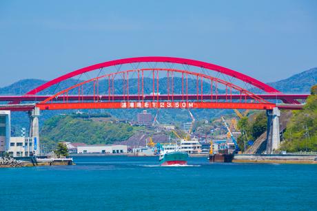 音戸大橋と第二音戸大橋の写真素材 [FYI02725811]