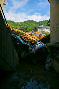 土砂災害の風景の写真素材 [FYI02725875]