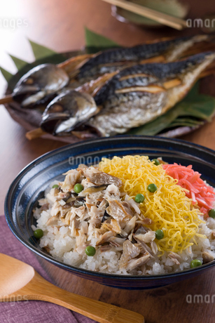 浜焼き鯖バラちらし寿司の写真素材 [FYI02726869]