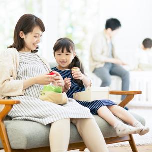 おもちゃで遊ぶ親子の写真素材 [FYI02729297]