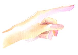人差し指で指を差しているところのイラスト素材 [FYI02738211]