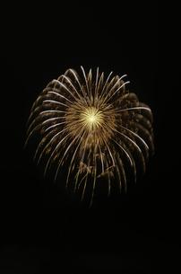 常総きぬ川花火大会 8号玉創作花火 昇曲導付八重芯越後向日葵の写真素材 [FYI02738427]