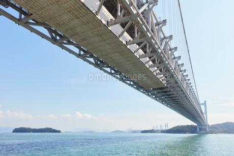 瀬戸大橋の高架下の写真素材 [FYI02738579]