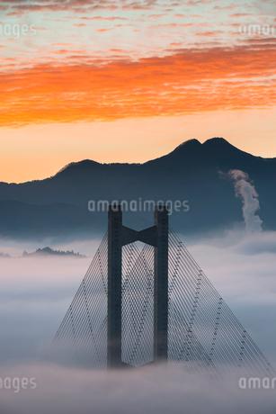 秩父公園橋と雲海の写真素材 [FYI02738627]