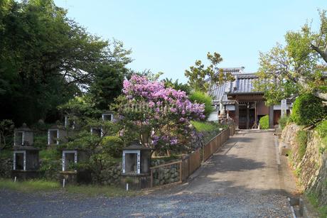 梅巌寺と石祠の写真素材 [FYI02738769]