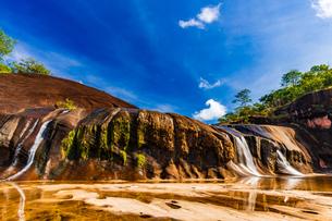 Tham Phra Waterfall, Bueng Kan, Thailandの写真素材 [FYI02739586]