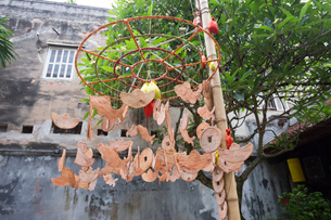 キムガン亭、木の飾りの写真素材 [FYI02739632]