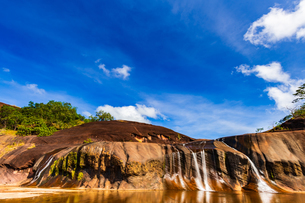 Tham Phra Waterfall, Bueng Kan, Thailandの写真素材 [FYI02739681]