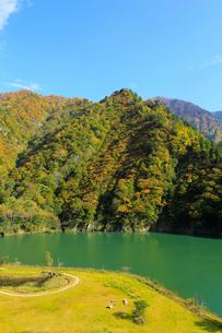 秋の加治川治水ダム公園の写真素材 [FYI02739710]