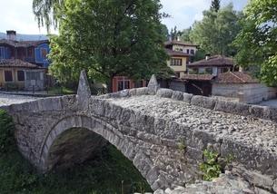 Kalachev Bridge, also Kableshkov Bridge, Koprivshtitsaの写真素材 [FYI02739789]