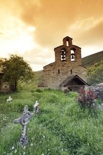 Santa Maria de Cardet Church, Cardet, Vall de Boiの写真素材 [FYI02739796]