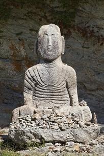 Buddha statue, Unjusa Temple, Jeollanam-do, Koreaの写真素材 [FYI02739818]