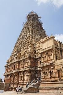 Brihadishwara Temple; 'vimana' (centre tower)の写真素材 [FYI02739835]