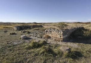 central palace remains, old Mongol capital, Yuan Shangduの写真素材 [FYI02739844]