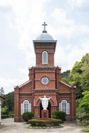上五島の大曽教会正面の写真素材 [FYI02740428]