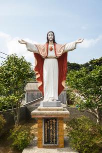 江袋教会のキリスト像の写真素材 [FYI02740560]