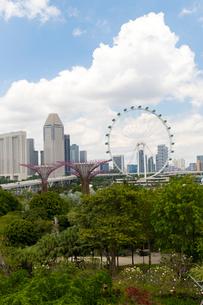 シルバーガーデンとシンガポール・フライヤーの写真素材 [FYI02740666]