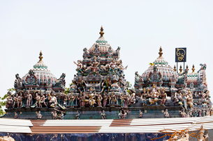 スリ・ビーラマカリアマン寺院の彫刻の写真素材 [FYI02740897]