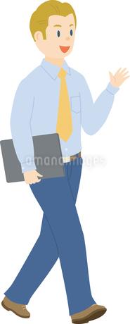 欧米系男性のビジネスマンのイラスト素材 [FYI02741027]