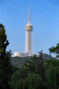 大連観光塔(テレビ塔)の写真素材 [FYI02741091]