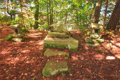 女神岳山頂の女神岳神社の写真素材 [FYI02741156]