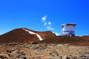 ハワイ島 マウナ・ケア山天文台の写真素材 [FYI02741557]